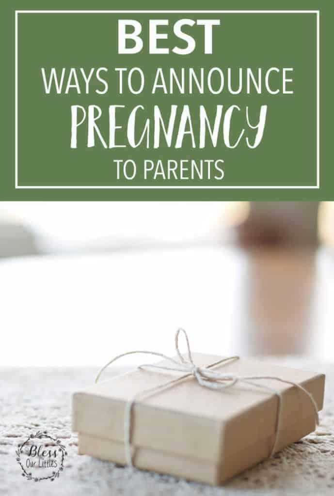 Best ways to announcem pregnancy to parents pinterest