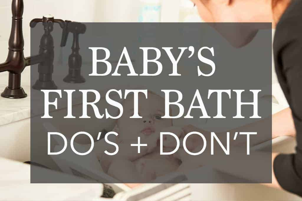 When Should I Give My Newborn a Bath? - First Bath Do's and Don'ts