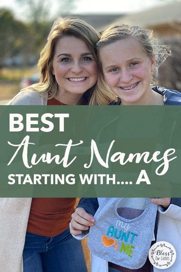 best aunt names
