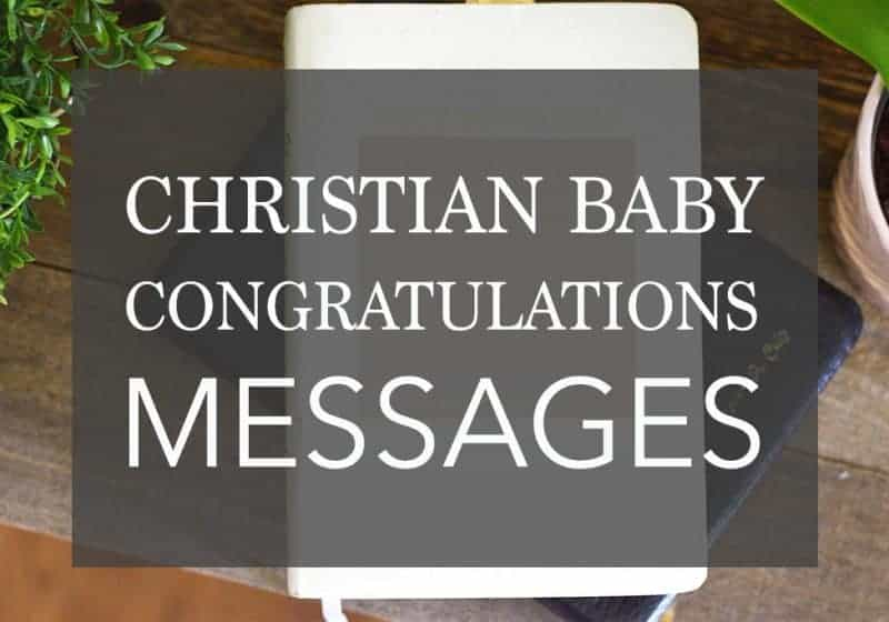 Christian baby congratulation messages
