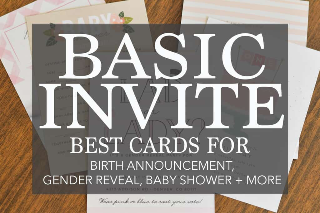 basic invite best cards for birth announcement gender reveal baby shower and more
