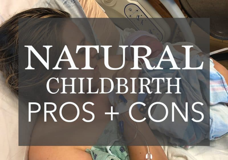 Natural childbirth mom giving birth to baby girl