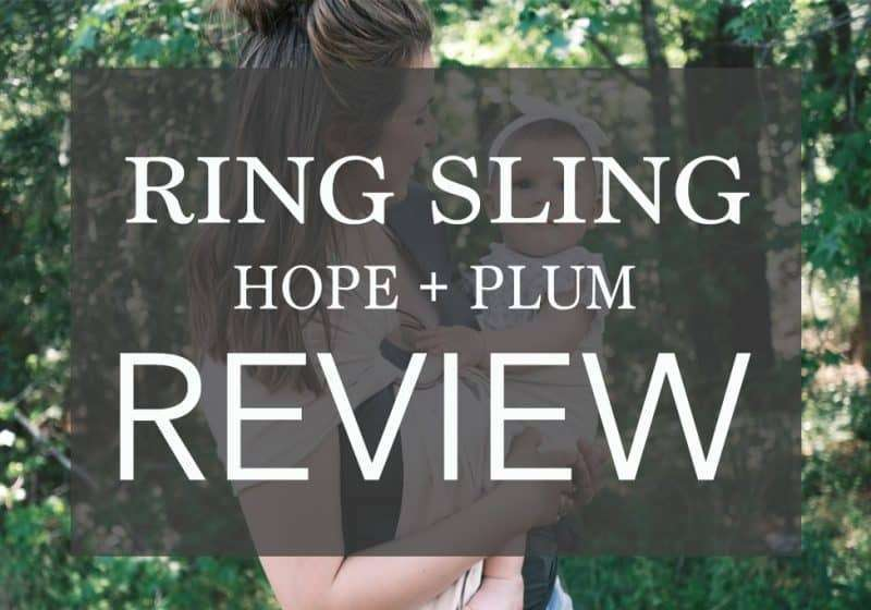 How to use a Ring Sling – Hope + Plum Ring Sling Review