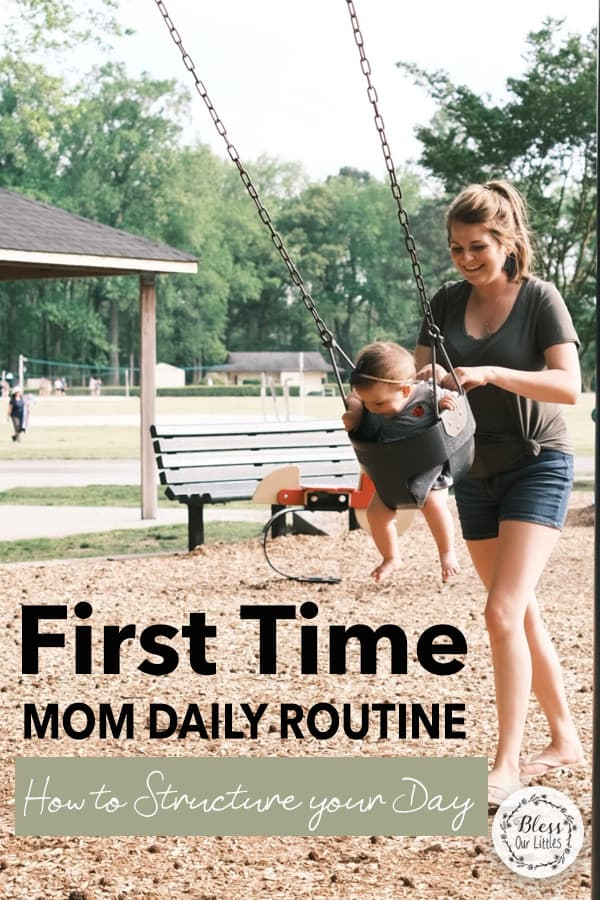 First time moms daily routine idea mom pushing baby on swings