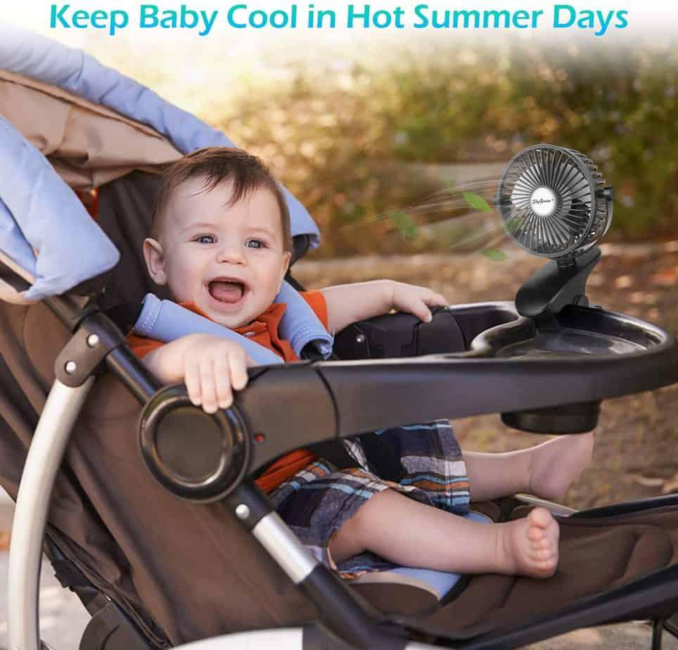 stroller fans for a summer baby