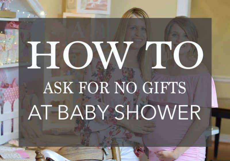 asking for no gifts at baby shower