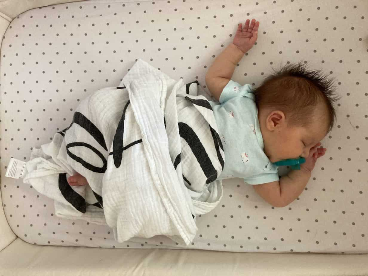 Baby muslin swaddle for summer baby