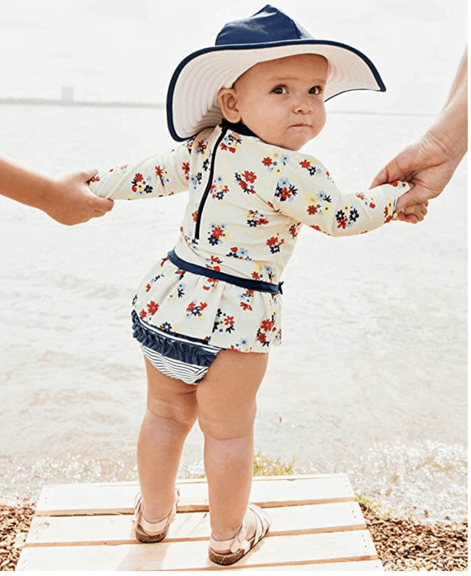 newborn swimsuit for a summer baby