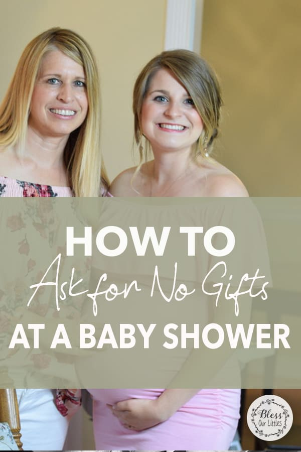 how to ask for no gifts at a baby shower