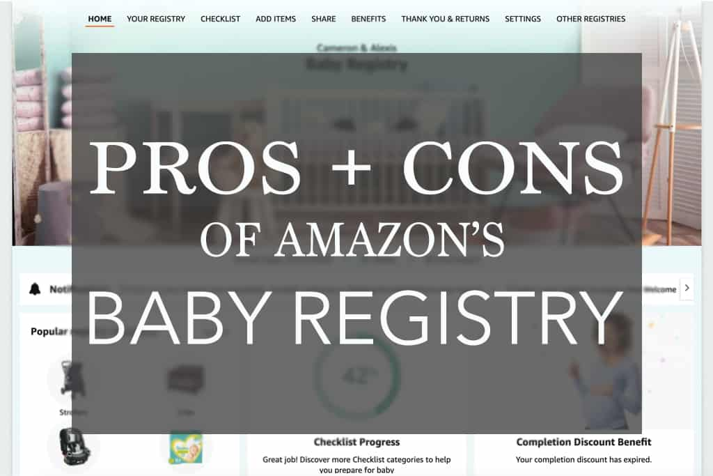 the pros and cons of amazon baby registry main image
