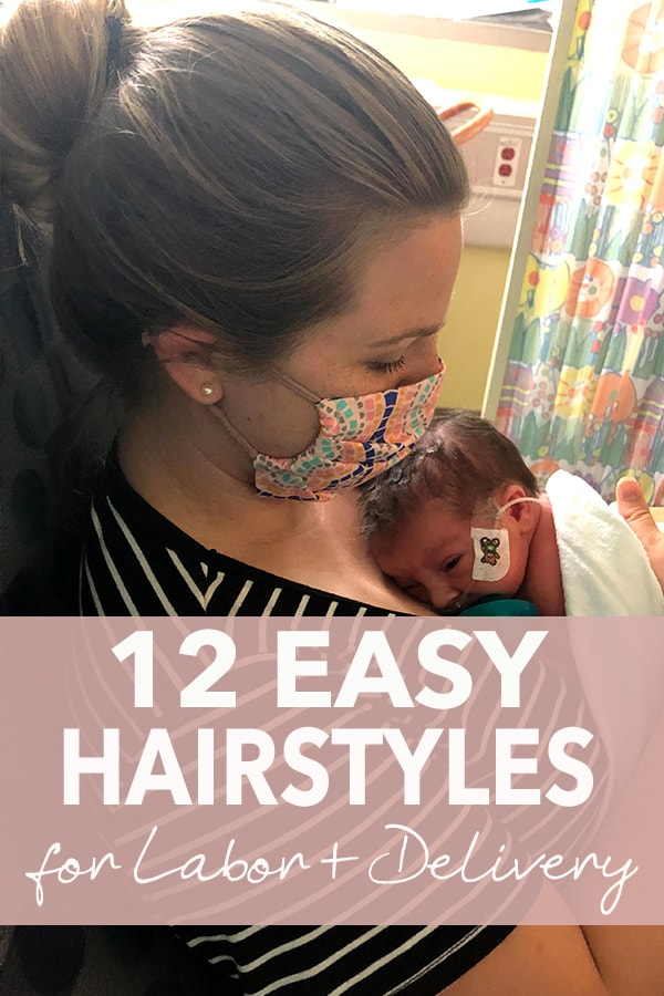 hairstyles for labor and birth pinterest image