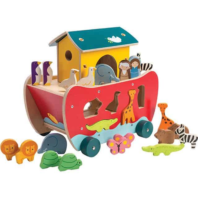 Noahs ark shape sorter for baby godchild baptism gift