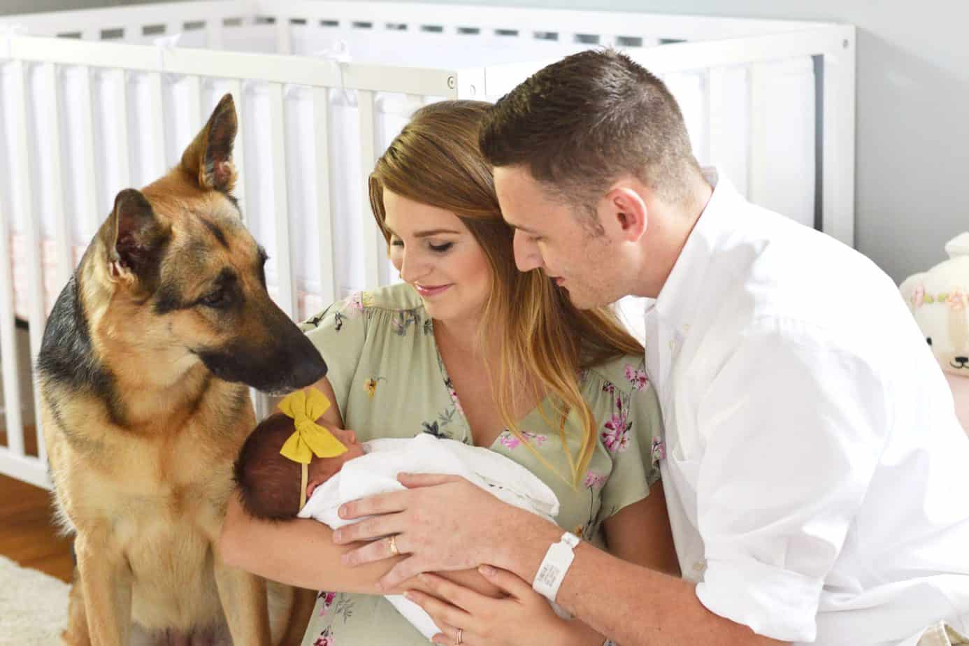 newborn photos in nursery
